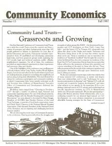 Community Economics-#13