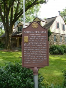 Historic marker for School of Living