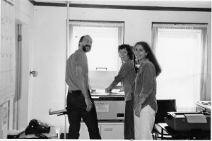 John Davis&BonnieAcker&LisaBerger in ICE office-1983