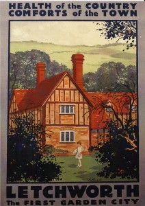 Poster advertising the  merits of Letchworth Garden City-1925