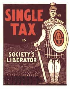 Single tax poster