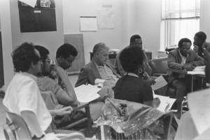 Bob Swann at NCI planning meeting circa 1970