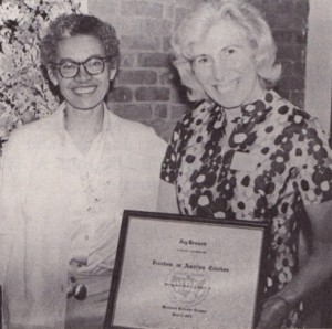 Fay Bennett&Pauli Murray at retirement party-1968