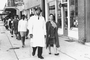 Slater King leading Albany march-circa 1962